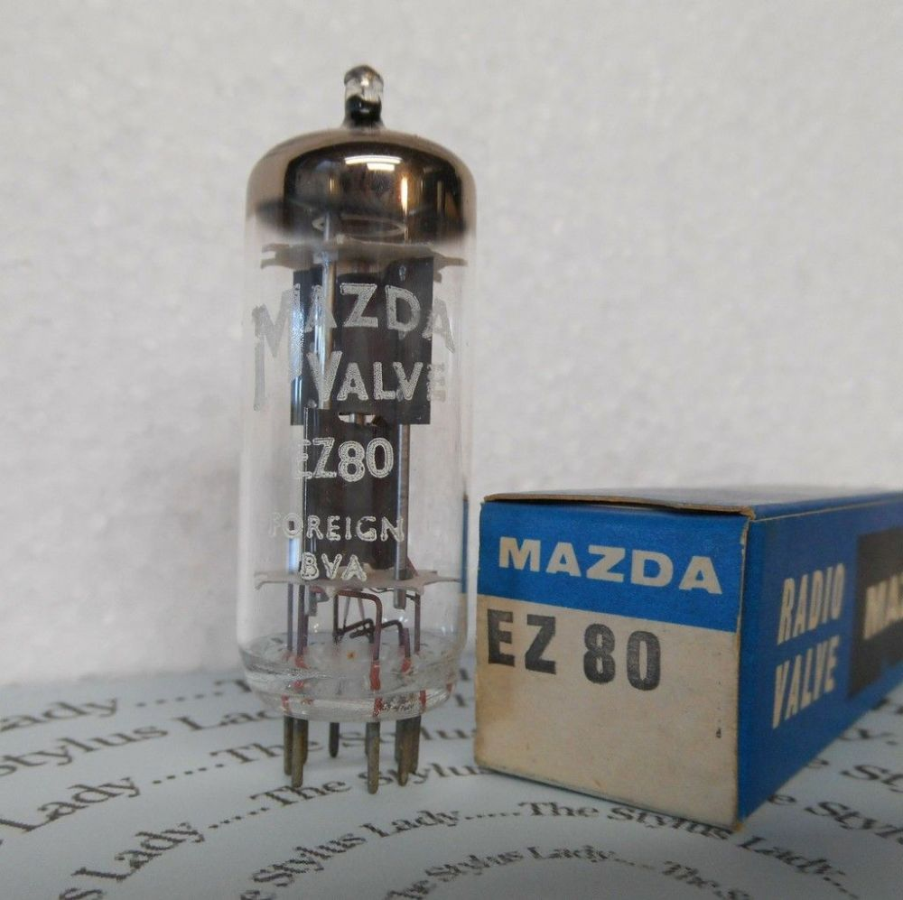 EZ80, 6V4, Mazda valve, new, boxed and tested